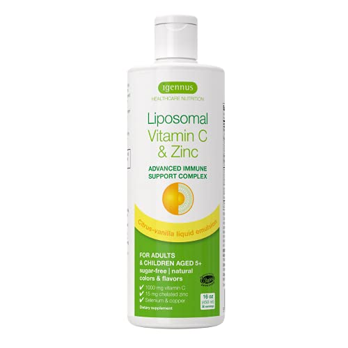 Liposomales Vitamin C (1000mg) plus Zink, Selen &...