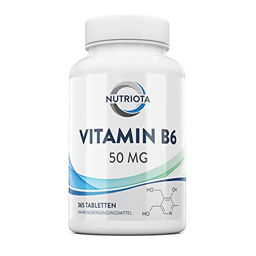 Vitamin B6 50mg | 365 hochwirksame vegane...