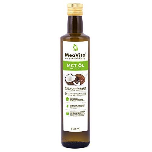 MeaVita MCT Öl auf Kokosölbasis (1x 500 ml) C8 &...