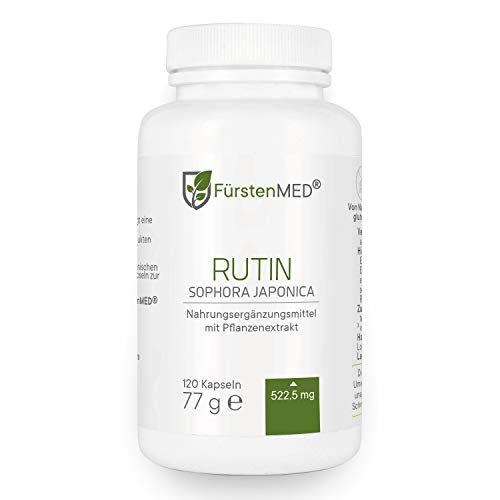 FürstenMED® Rutin Kapseln - Hochdosiert 522,5mg...
