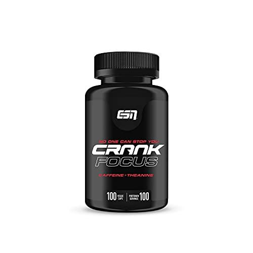 ESN Crank Focus, 100 Koffein L-Theanin Kapseln