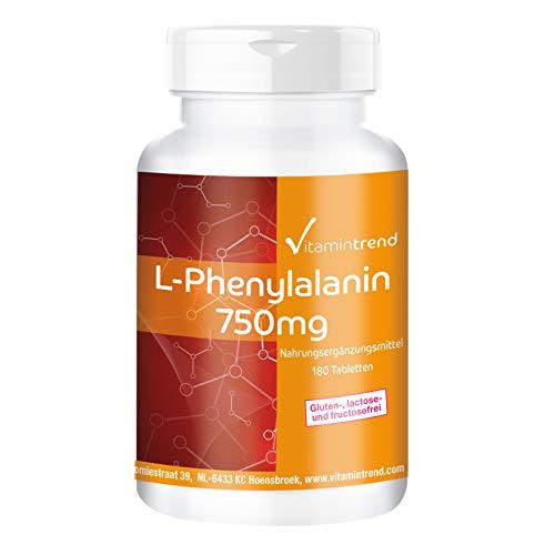 L-Phenylalanin 750mg - 180 Tabletten - vegan -...