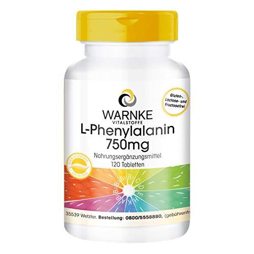 L-Phenylalanin 750mg - hochdosiert & vegan - 120...