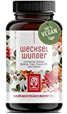 WECHSELWUNDER - 500mg Yamswurzel mit 340mg Rotklee, Baldrian, Eisen, Vitamin B9 und B12 Kapseln hochdosiert - Meno Balance - 90 Wechseljahre Kapseln
