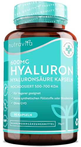 Nutravita® 600mg Hyaluronsäure Kapseln –...