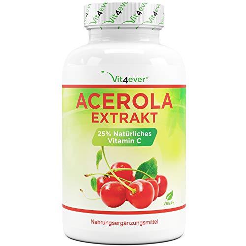 Acerola Kapseln - Natürliches Vitamin C - 240...