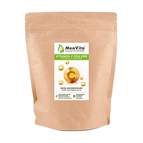 MeaVita Vitamin C Pulver, Ascorbinsäure, 1er Pack...