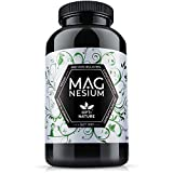[ UNSER SIEGER 2020 ] 365 Magnesium Kapseln hochdosiert   Made in Germany, hoch bioverfügbar, zertifiziert & Vegan   Seit 1997 - OPTI NATURE