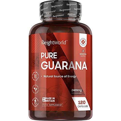 Guarana Koffein Kapseln - 2400mg reines Guarana...