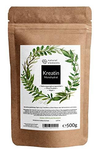 Creatin (Kreatin) Monohydrat Pulver 500g -...