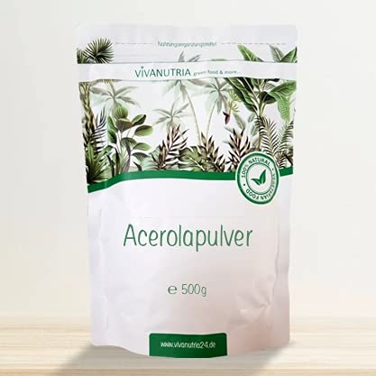 VivaNutria Acerola Pulver 500g I natürliches...