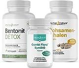 SIMPLE CLEAN | Schonende und effektiv | mit Bentonit Detox, Combi Flora SymBIO und Flohsamenschalen (4-Wochen-Kur)