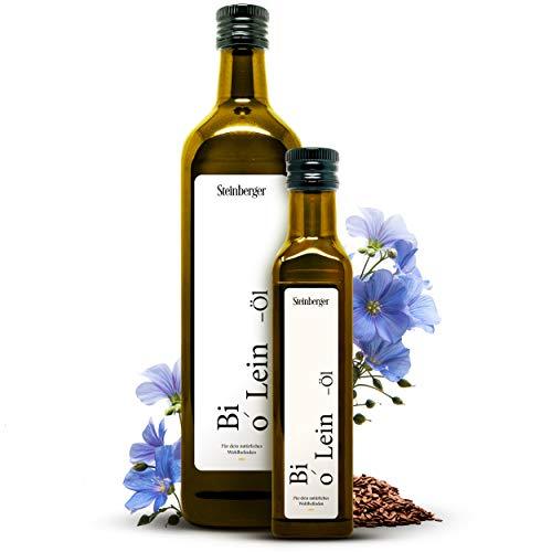 Bio Leinöl kalt gepresst 100% rein 750 ml |...