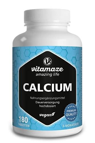 Calcium Tabletten hochdosiert vegan, 180 Tabletten...
