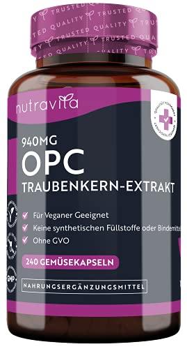 Nutravita® - 940 mg OPC Traubenkernextrakt - 240...