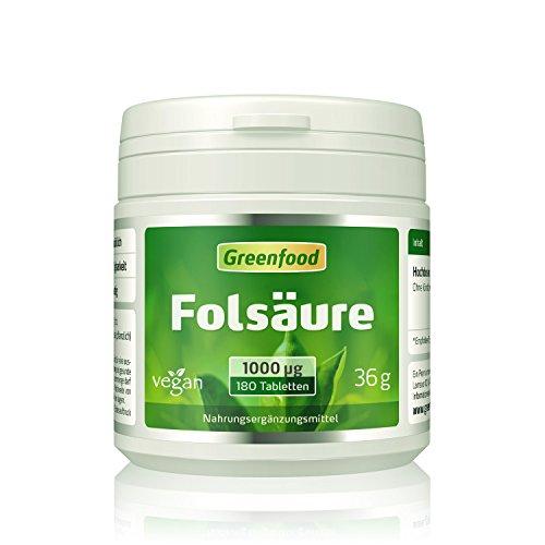 Folsäure, 1000 µg, extra hochdosiert, 180...