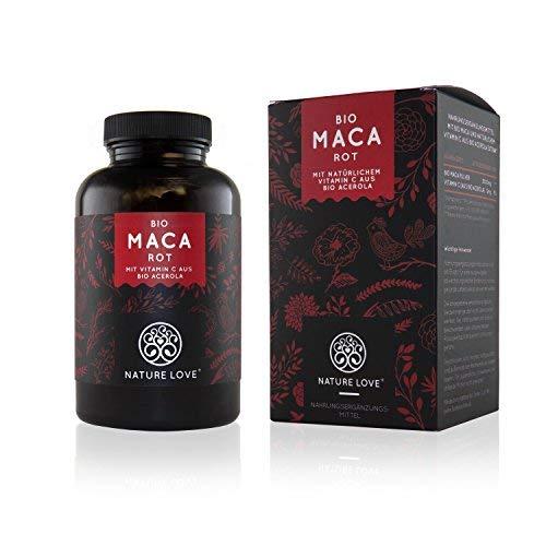 NATURE LOVE® Bio Maca - 180 Kapseln - 3000 mg Bio...