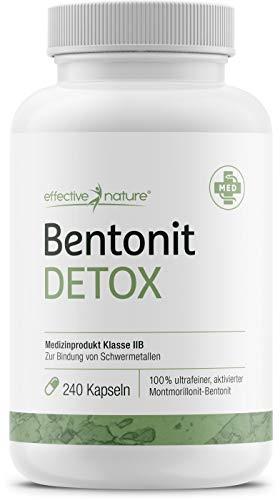 effective nature - Bentonit Detox - 240 Kapseln -...