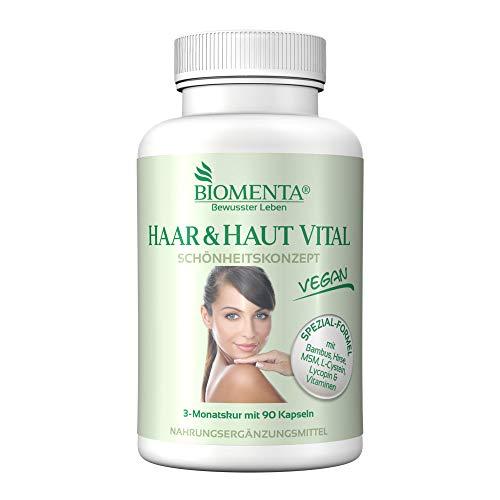 BIOMENTA Haar & Haut Vital Kapseln - mit Bambus...