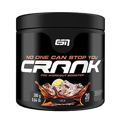 ESN Crank, Cola, 380g, kompletter Pre Workout...