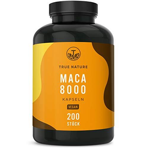 TRUE NATURE® Maca 8000 Gold - 200 vegane Kapseln...