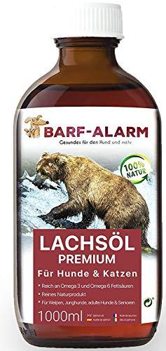 barf-alarm Premium Lachsöl für Hunde 1 Liter mit...