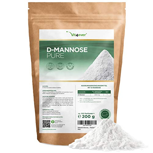 D-Mannose Pulver - 200 g - (3,3 Monate Vorrat) -...