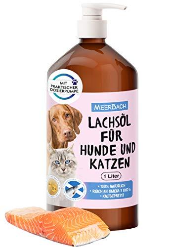 1 Liter Lachsöl für Tiere, Lachsöl für Hunde,...