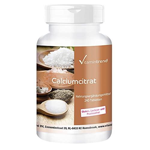 Calcium 900mg - aus Calciumcitrat - 240 vegane...