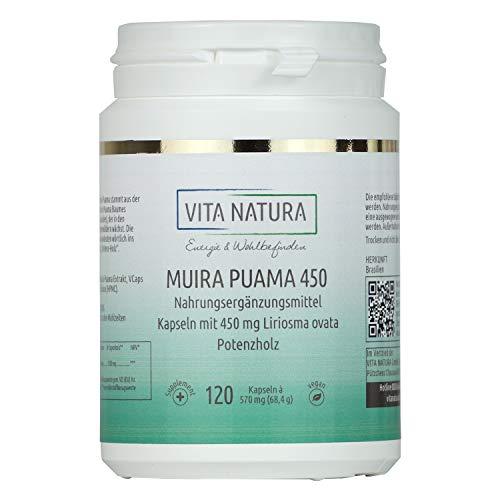 Vita Natura Muira Puama 450 mg Vegikapseln,...