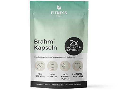 FITNESS VITAL Brahmi Kapseln hochdosiert 180...