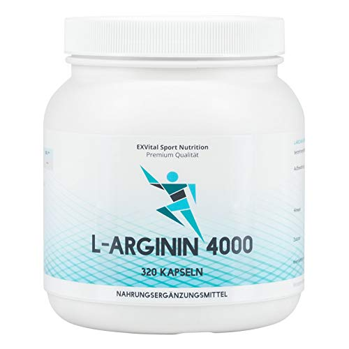 EXVital L-Arginin 4000 hochdosiert, 320 Kapseln in...