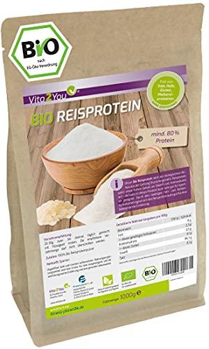 Bio Reisprotein 1kg im Zippbeutel - mind. 80%...