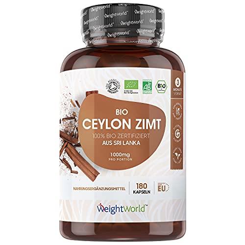 BIO Ceylon Zimt Kapseln - 1000mg reines Bio Ceylon...