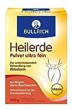 Bullrich Heilerde Pulver ultra fein   zur inneren und äußeren Anwendung   Hilfe bei Akne, Muskelbeschwerden, Magen-Darm Beschwerden, Darmsanierung, Cellulite (500 g)