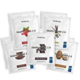 foodspring Shape Shake 2.0, 10er Probierpaket, 10x60g, Mahlzeitenersatz zum Abnehmen*, Proteinreich, 24 Vitamine & Mineralien