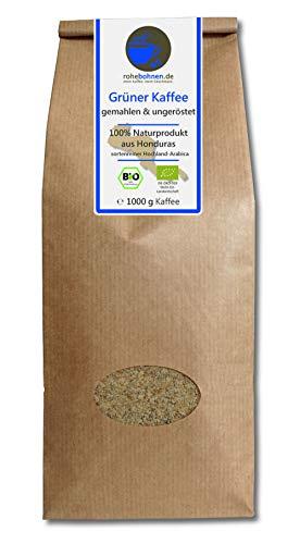 Grüner Kaffee bio gemahlen - Honduras (Rohkaffee...
