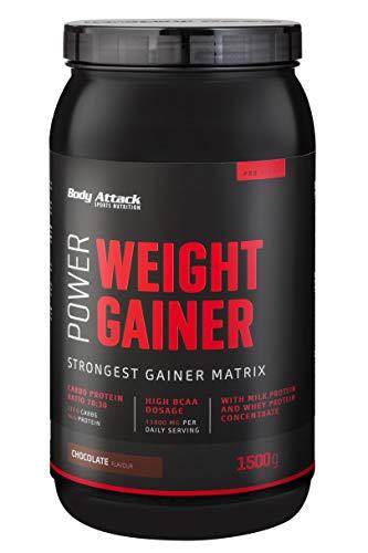 Body Attack Power Weight Gainer, 100% Masseaufbau,...
