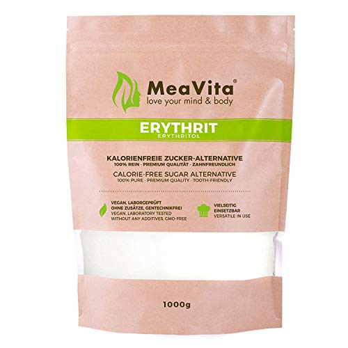 MeaVita Erythrit (1x 1000g) kalorienfreies...