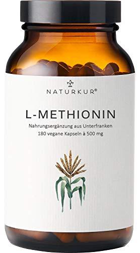 Naturkur® L-Methionin 500 mg - 180 vegane Kapseln...