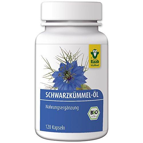 Raab Vitalfood Bio Schwarzkümmelöl-Kapseln, 120...