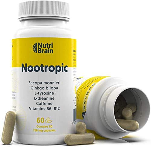 Brain Booster Nootropic XL Paket 60 Kapseln 100%...