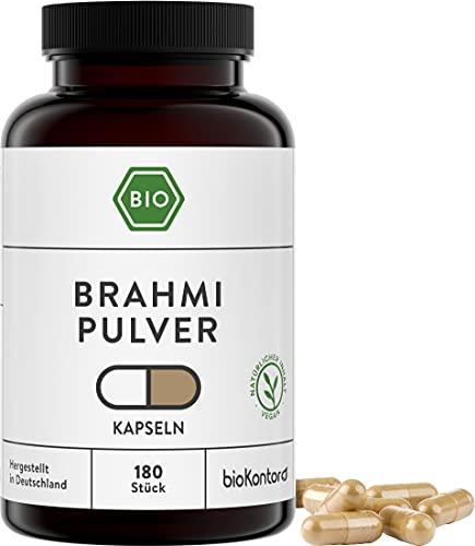 Brahmi Kapseln BIO | 180 Kapseln | 1500 mg je...