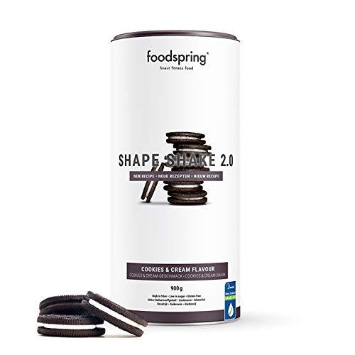 foodspring Shape Shake 2.0, Cookies & Cream, 900g,...