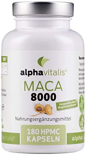 Alphavitalis Maca 8000 Gold vegan - 180 Kapseln...