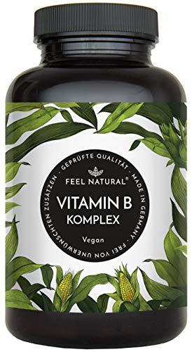 Vitamin B Komplex Kapseln - Mit 500 µg Vitamin...