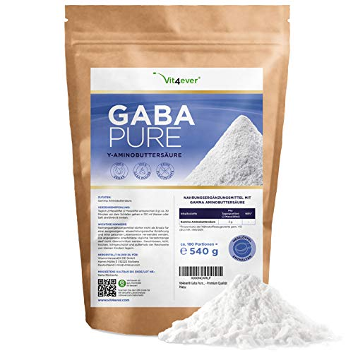 Gaba Pure - 540 g reines Pulver ohne Zusätze -...