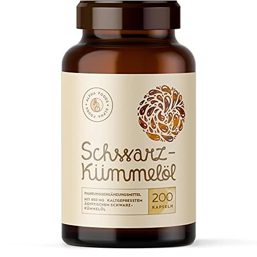 Vegane Schwarzkümmelöl Kapseln - 200...