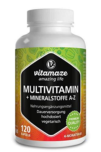 Multivitamin Kapseln hochdosiert, 23 wertvolle...