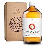 MAISON NATURELLE ® DMSO (1000 ml) – 99,9% pharmazeutische Reinheit – Dymethylsulfoxid ph. EUR unverdünnt – in Braunglasmedizinflasche